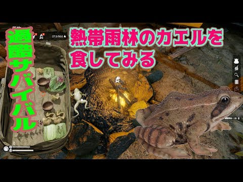 【過酷サバイバル】熱帯雨林のカエルを食してみる【GREEN HELL】 #11日目