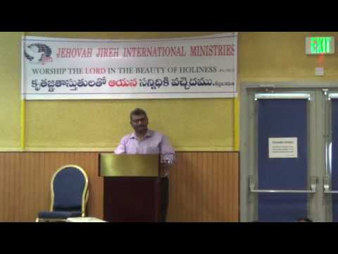 Telugu Church Qatar JJIM- Massage Broken vessel