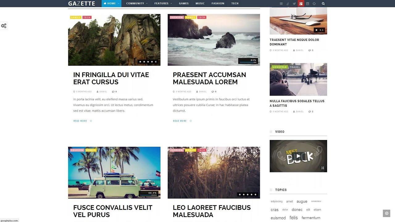 Gazette Magazine - WordPress Community Theme - YouTube