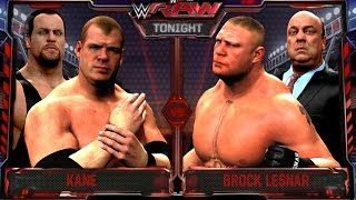 wwe raw 8 10 15 brock lesnar vs kane match undertaker returns raw 8 10 15