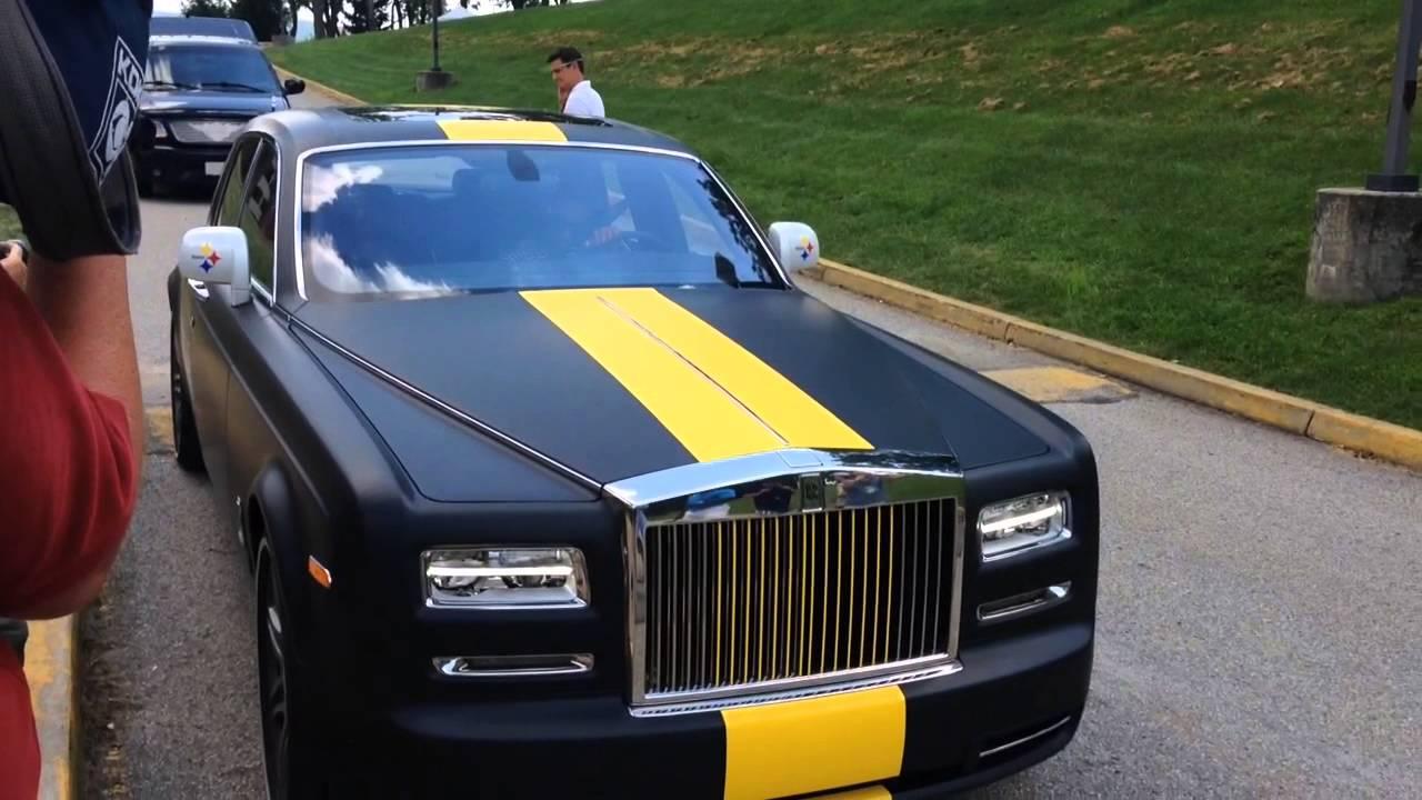 Antonio Brown Arrives In Rolls Royce Youtube