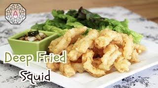 Korean Deep Fried Squid With Lettuce Wrap (상추 튀김) | Aeri's Kitchen