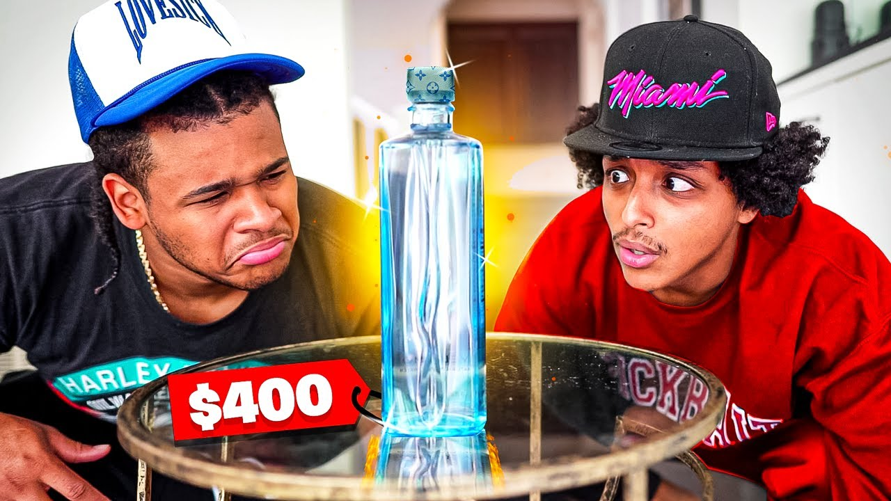 I DRANK A $400 BOTTLE OF LAVA WATER W/ AMP