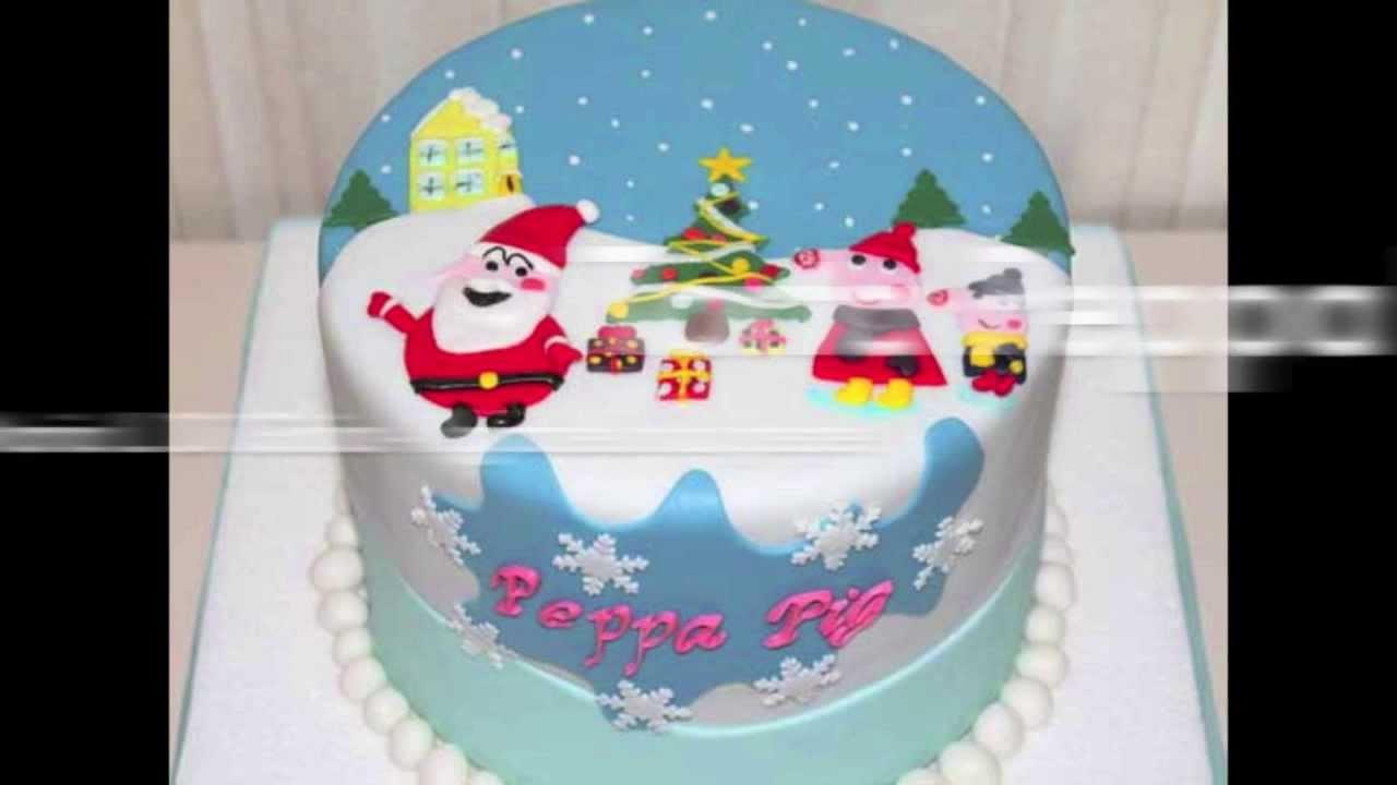 Torte Decorate Per Natale tutorial di cake design: come si fa la torta di natale di peppa pig - peppa  pig christmas cake