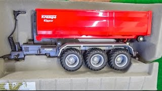 RC tractor hook lift trailer gets unboxed and dirty for the first time!