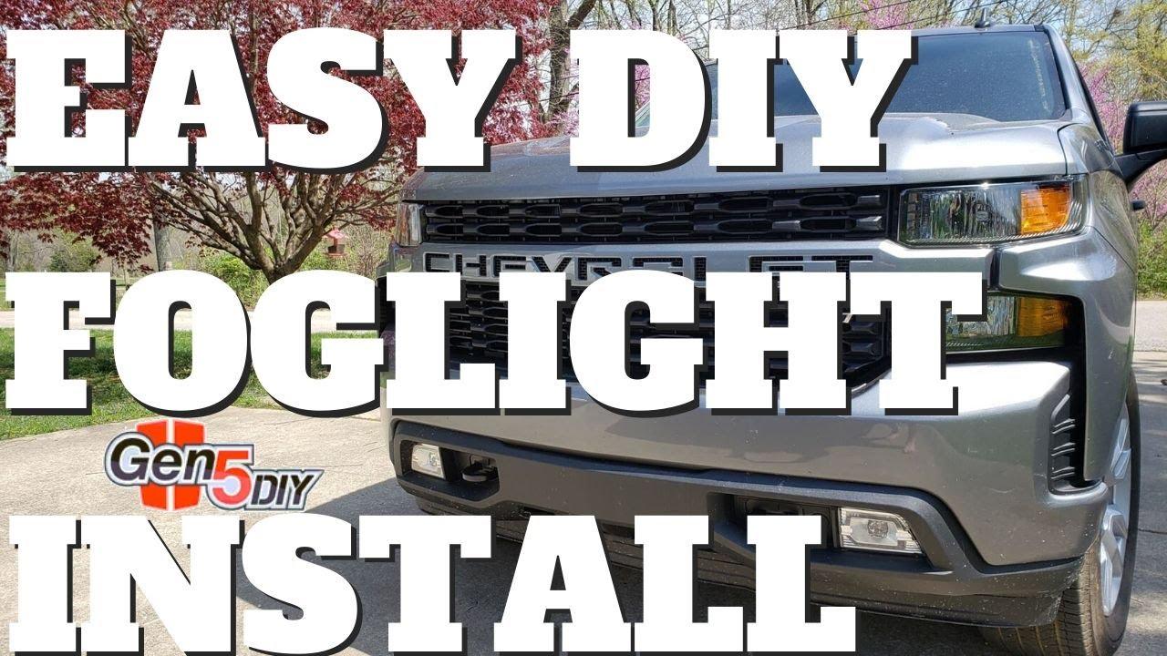 2020 Chevy Silverado Fog Light Diy Install