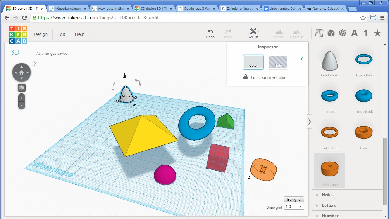 3d tool zum erstellen von k rpern k rperberechnung zylinder aus quader ausschneiden youtube. Black Bedroom Furniture Sets. Home Design Ideas