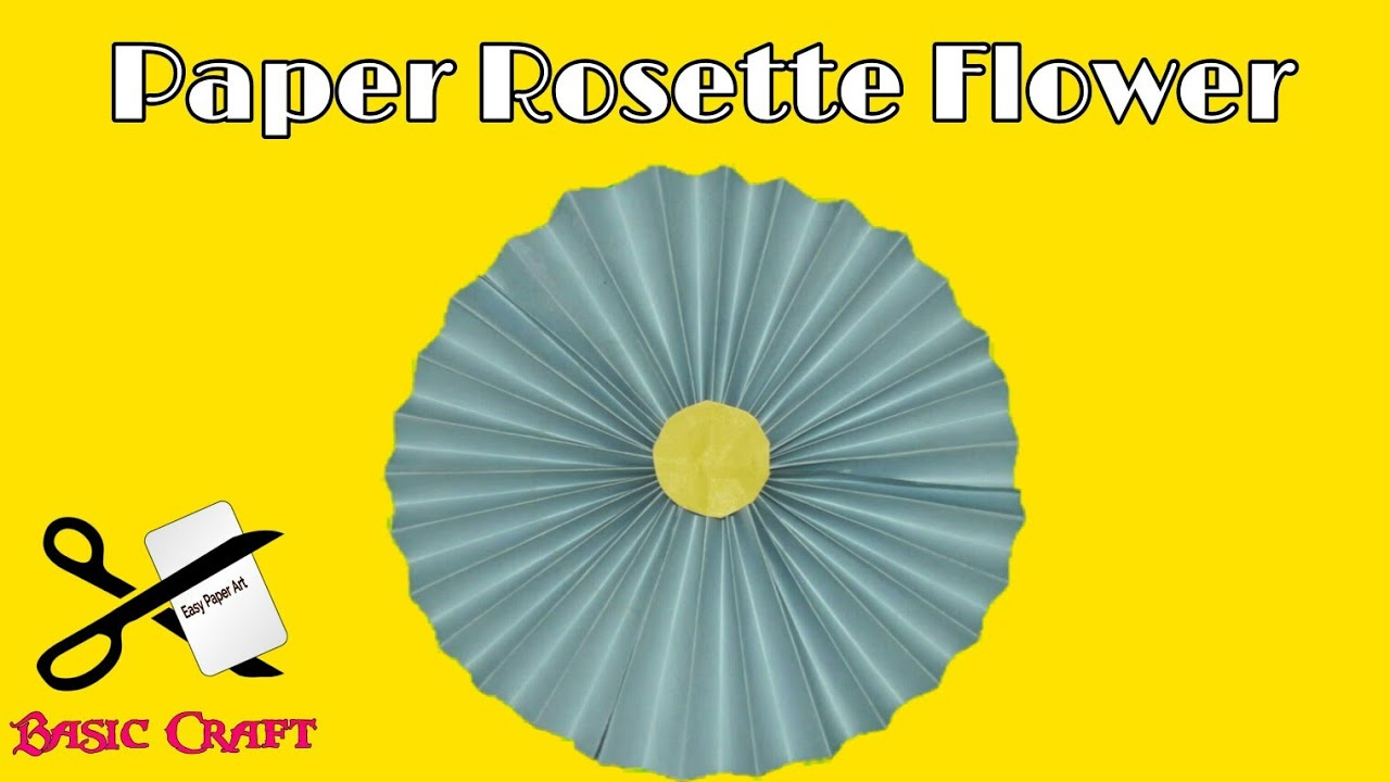 Diy basic craft how to make paper rosette flowers paper pinwheels diy basic craft how to make paper rosette flowers paper pinwheels backdrop for decoration mightylinksfo Choice Image