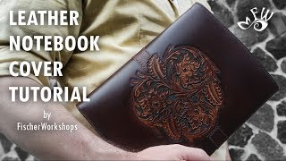 How To Make A Designer Leather Notebook Wallet And Cover by Fischer Workshops