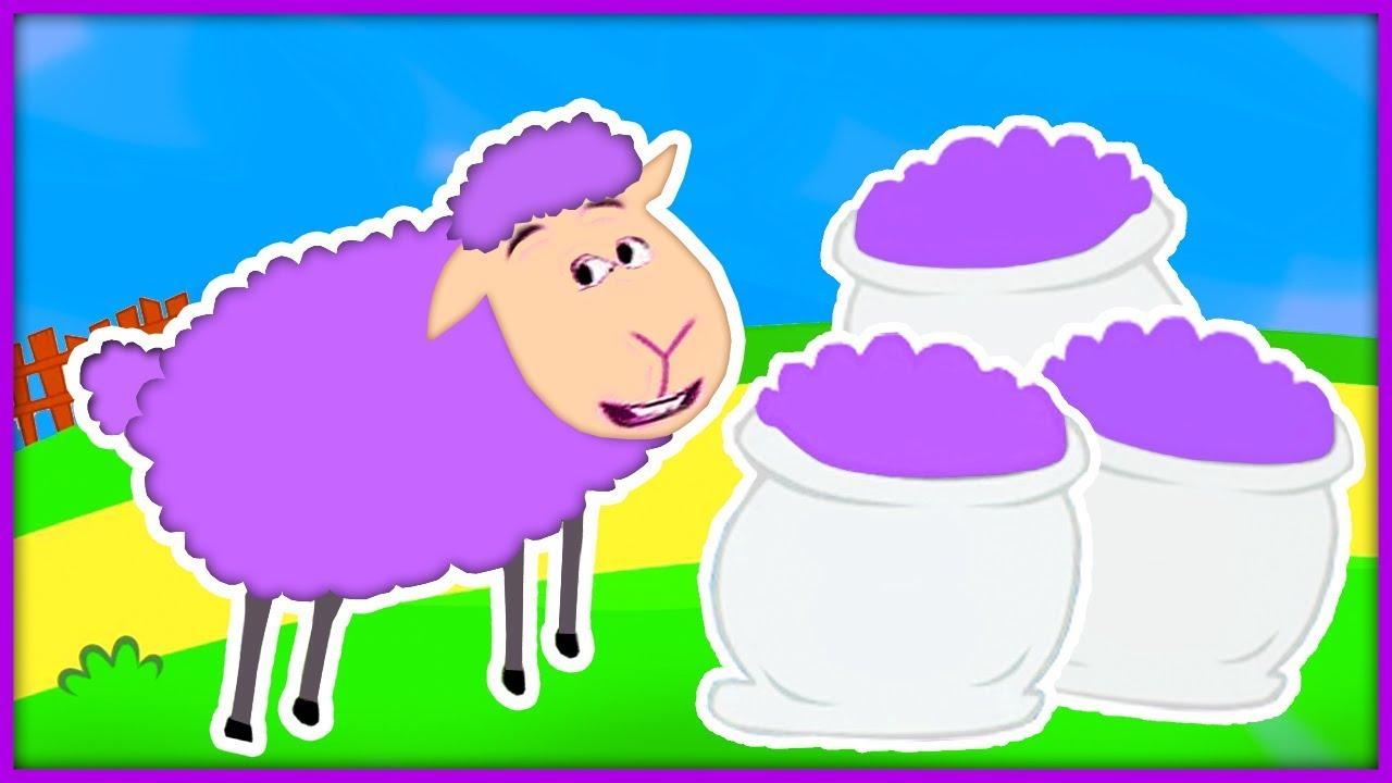 Baa Baa Purple Sheep | Classic Nursery Rhyme Sing-along with Lyrics!