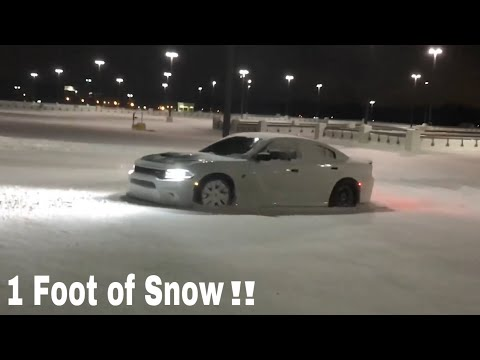 DAILY DRIVEN HELLCAT Plows through 1FT of Snow!!