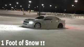DAILY DRIVEN HELLCAT Plows through 1FT of Snow!! thumbnail