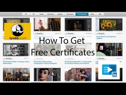 How to get free certification Lynda , Linkedin Learning - YouTube