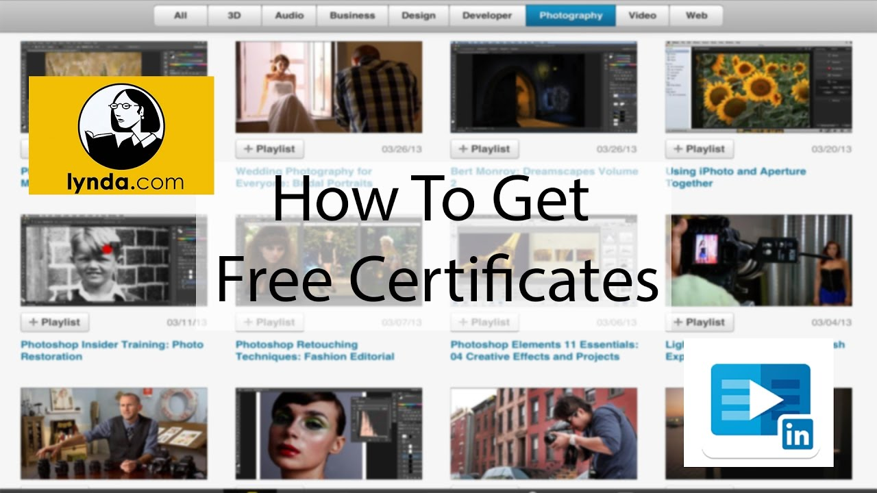 How to get free certification Lynda , Linkedin Learning
