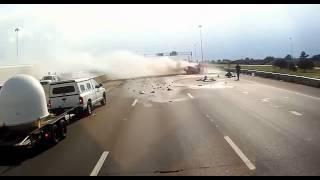 Hero Trucker Saves Grandma And Little Girl From Burning Car