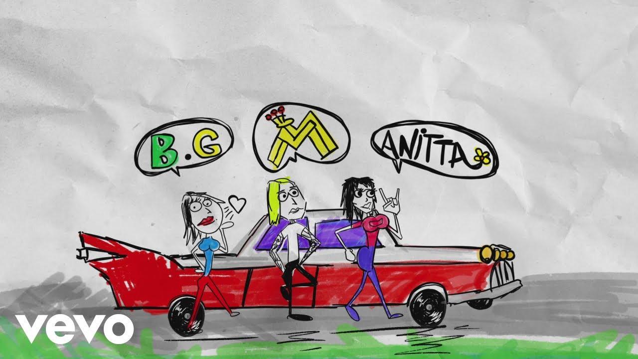 Maluma, Becky G, Anitta - Mala Mía (Remix - Lyric Video)