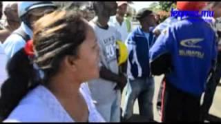 Camp Levieux , colère des habitants après l'accident d'un van scolaire