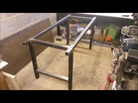 New garage + steel workbench