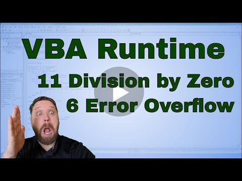 VBA Run-time '6' Error Overflow and VBA Run-time '11' Division by zero