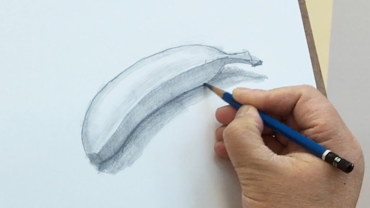 Still life 22 how to draw a banana with pencil