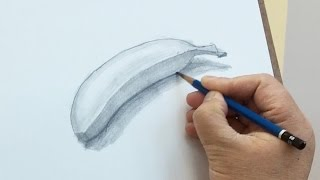 How to draw a banana with pencil
