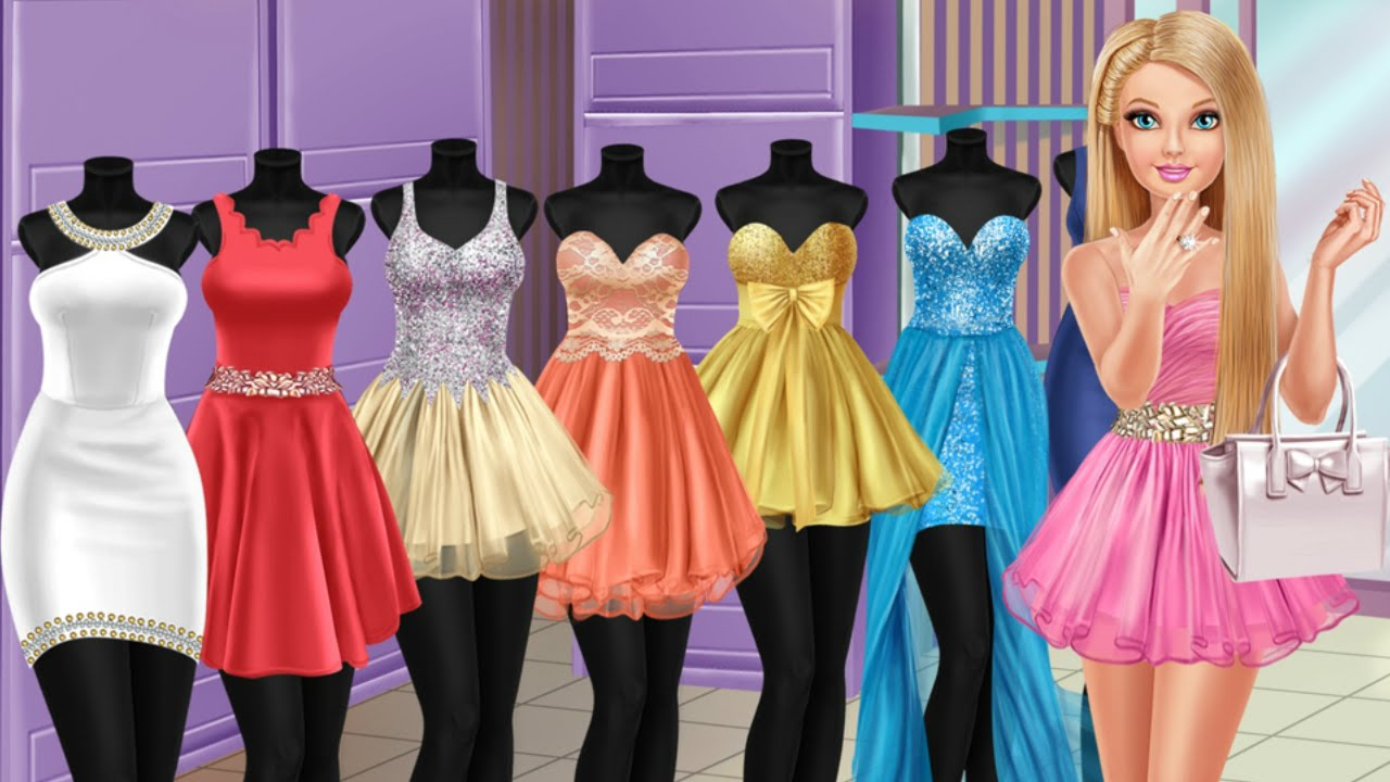 Barbie online shopping games