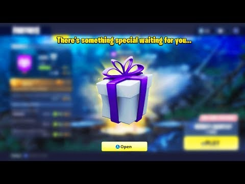 *FIRST* FREE GIFT In Fortnite Battle Royale! (Free Skin)