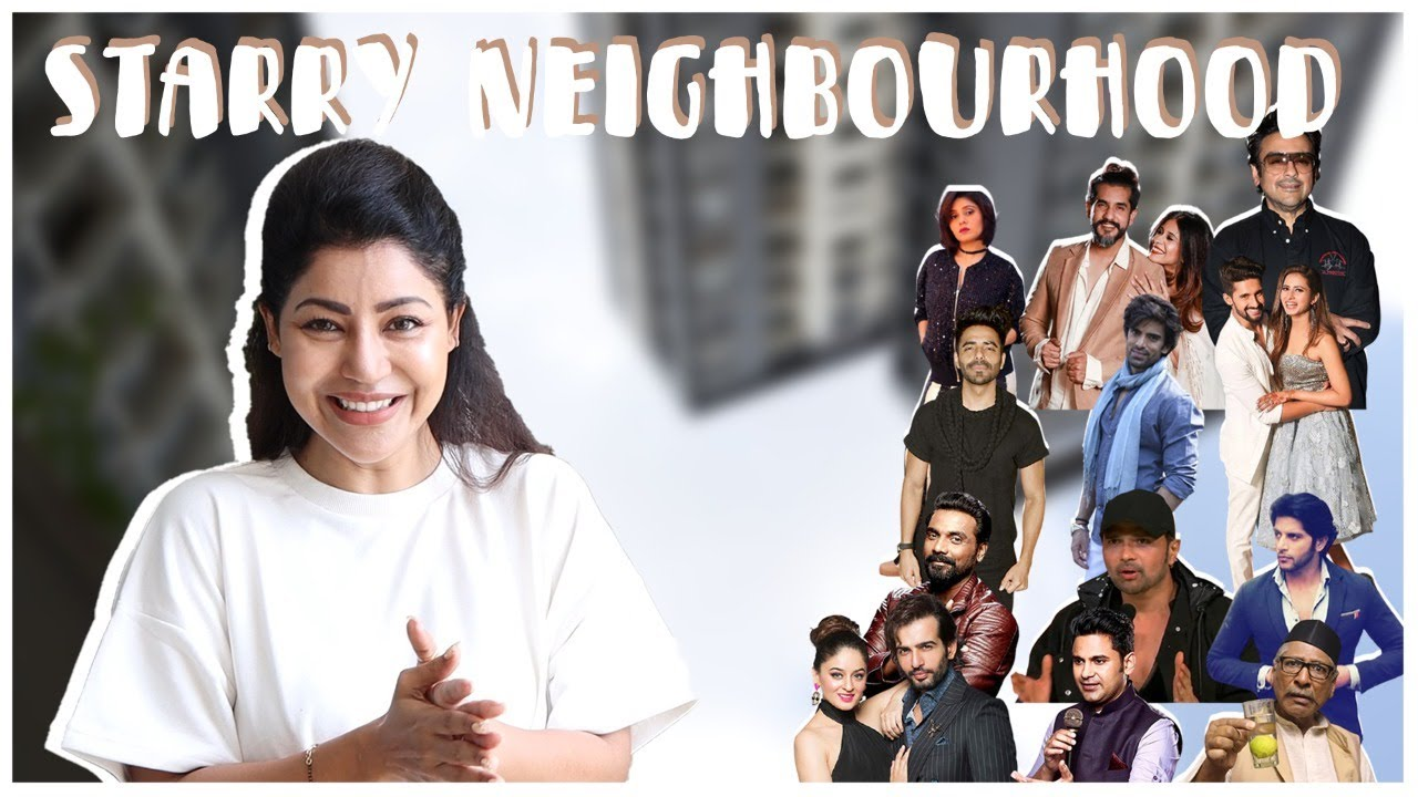 Bollywood celebrity home tour from my balcony   HINDI   With English Subtitle    Debina Decodes  