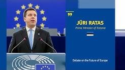 Debating the Future of Europe with Jüri Ratas