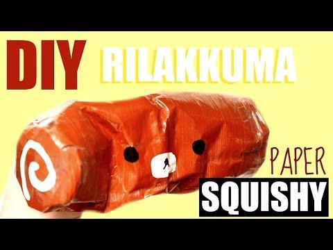DIY PAPER RILAKKUMA SWISS ROLL SQUISHY