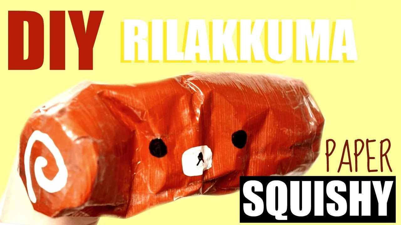 Diy Paper Rilakkuma Swiss Roll Squishy Youtube