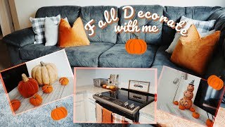 FALL DECORATE WITH ME!!! COZY AND CUTE