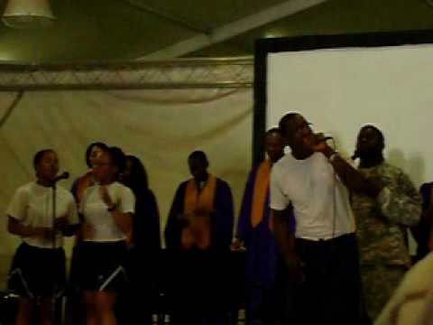 Me Singing Bless Me by Dave Hollister During KAF Praise & Worship