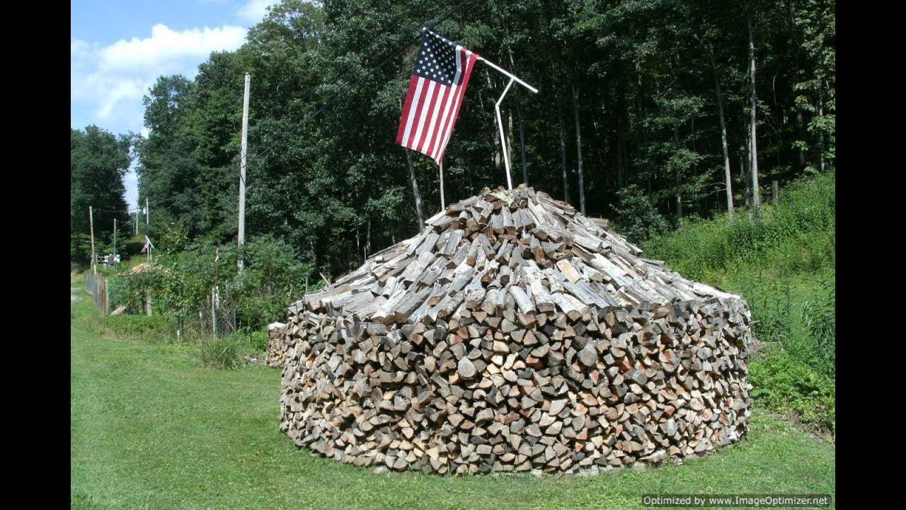 W Va Round Fire Wood Pile S Youtube