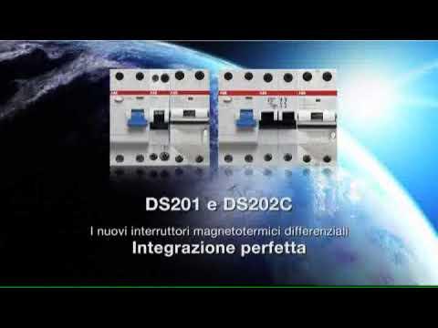 Schema Collegamento Differenziale Magnetotermico : Abb ds201 ds202c interruttori differenziali magnetotermici youtube