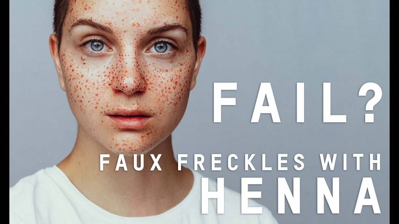 Henna Faux Freckles Tutorial Fail Kirschundkern Youtube