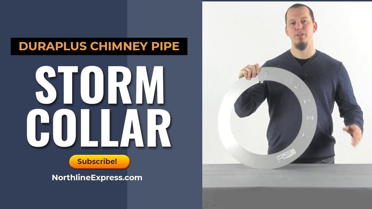 Dura Plus Chimney Pipe Storm Collar Youtube