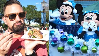 Disney's Festival Of The Holidays At EPCOT! | Trying & Reviewing 8 Holiday Menu Items!