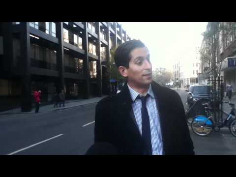 Trader Alessio Rastani Speaks Of Economic Colapse Outside Occupy London 'Bank of Ideas'