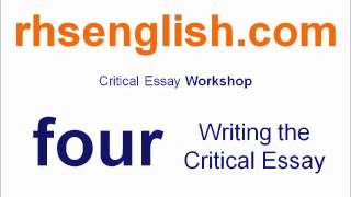 Higher english critical essay help