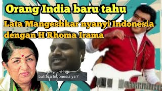 MUSIM CINTA : RHOMA IRAMA Duet dg LATA MANGESHKAR  LAGU INDONESIA ,ORANG INDIA INI KAGUM #REACTION