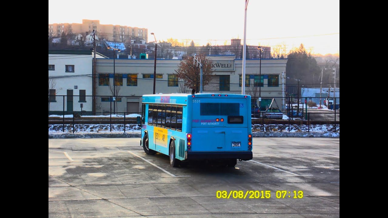 Port authority transit pittsburgh west busway flyer to downtown return trip full ride - Pittsburgh port authority ...