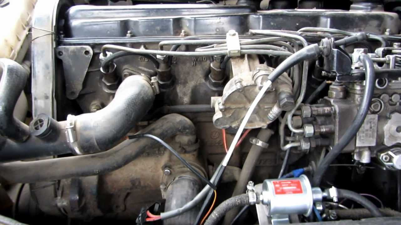 Volkswagen Lt 28 Act Engine Started With The Hkt Fuel Pump