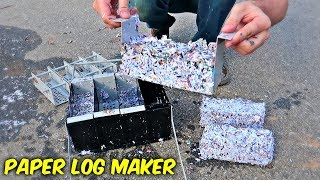 4 in 1 Paper Fire Log Maker