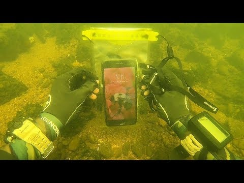 Found a Working iPhone Underwater in a Waterproof Bag! Scuba Diving