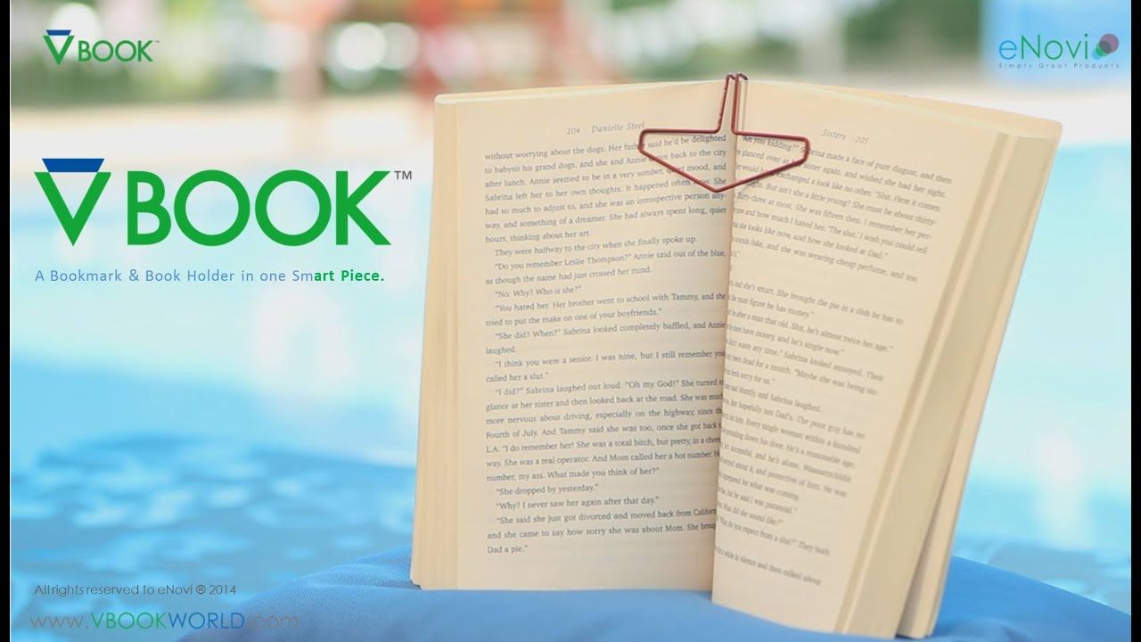 vbook bookmark book holder in one smart piece youtube