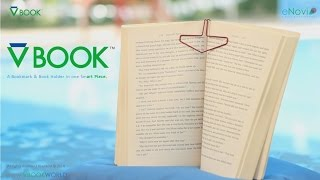 VBOOK Bookmark & Book Holder in one Smart Piece