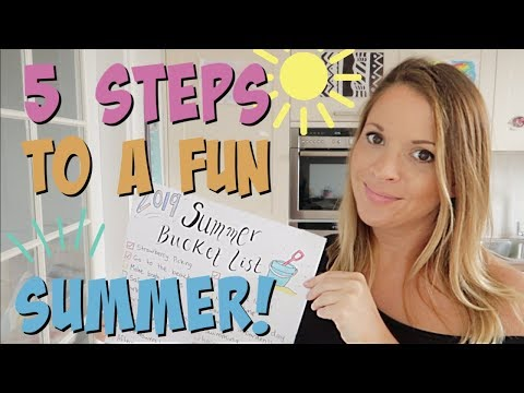 5 steps to a fun summer | Planning Summer holiday activities