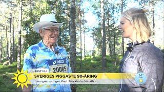 Sveriges piggaste 90-åring - Knut springer Stockholm Marathon - Nyhetsmorgon (TV4)