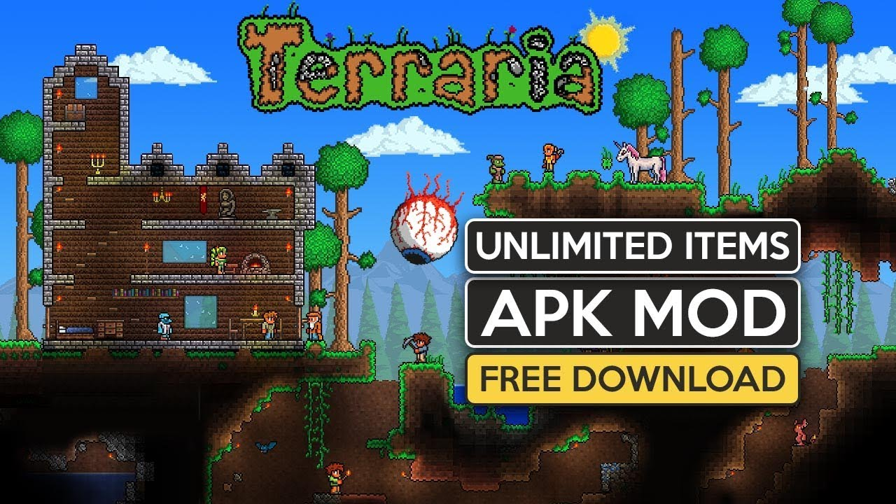 Download Terraria Paid v1 2 12785 APK Mod Data free for